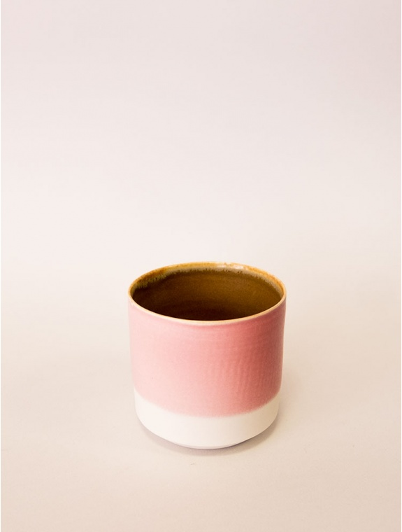 Tasse porcelaine rose